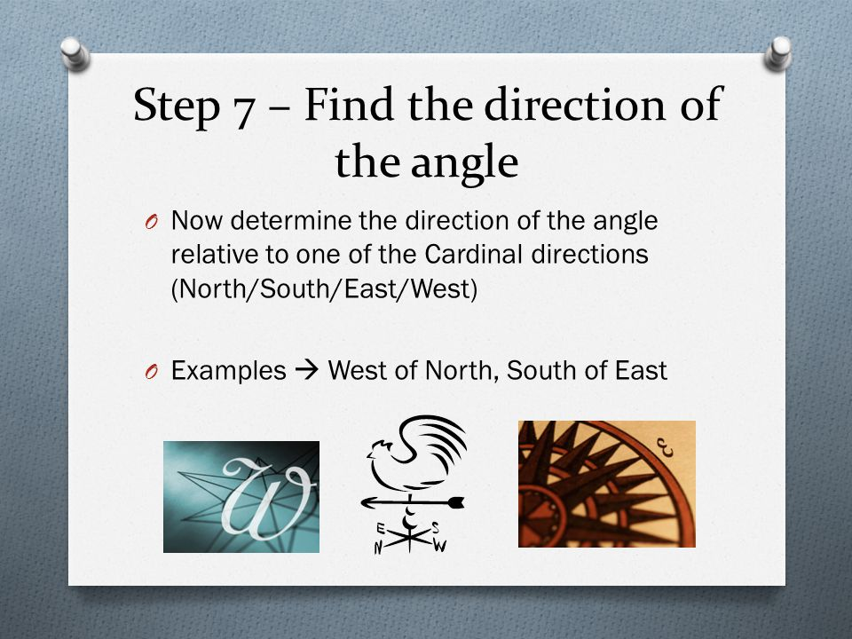 Step 7 – Find the direction of the angle