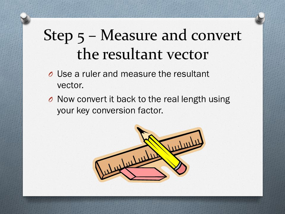 Step 5 – Measure and convert the resultant vector