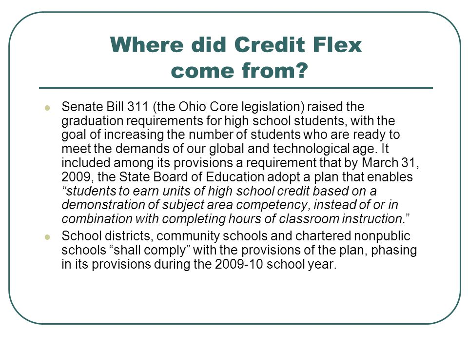 Where did Credit Flex come from