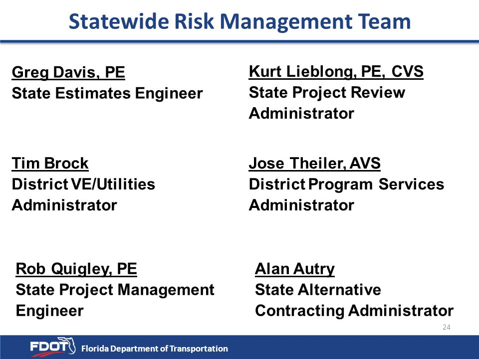 Statewide Risk Management Team