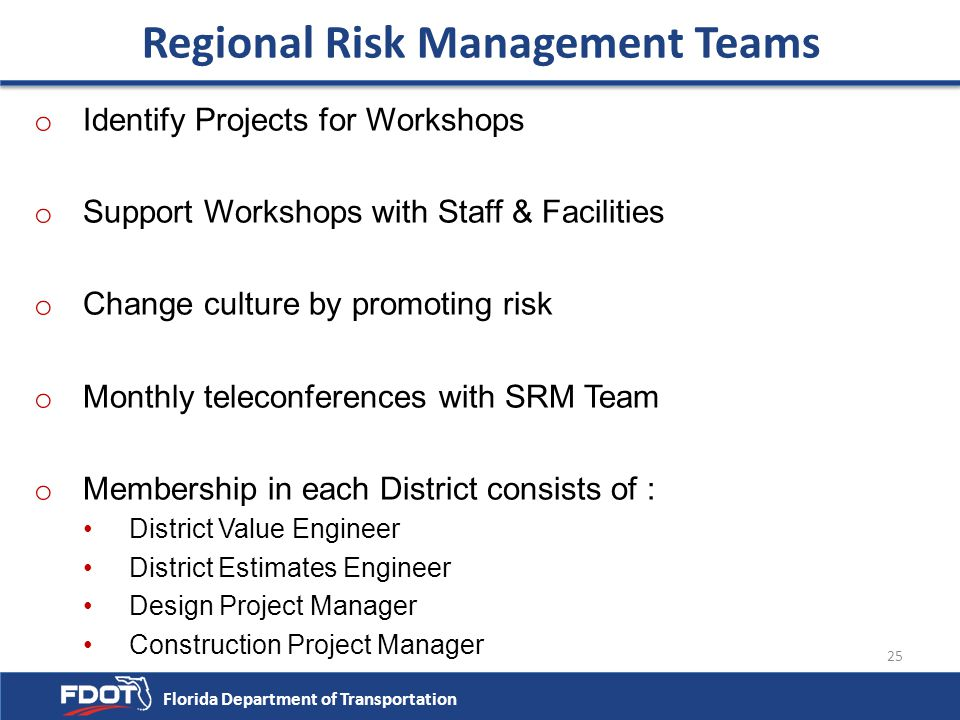 Regional Risk Management Teams