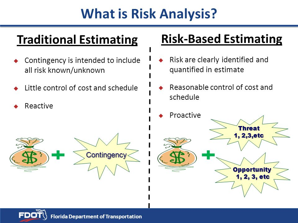 Traditional Estimating Risk-Based Estimating