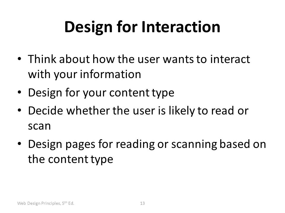 Design for Interaction