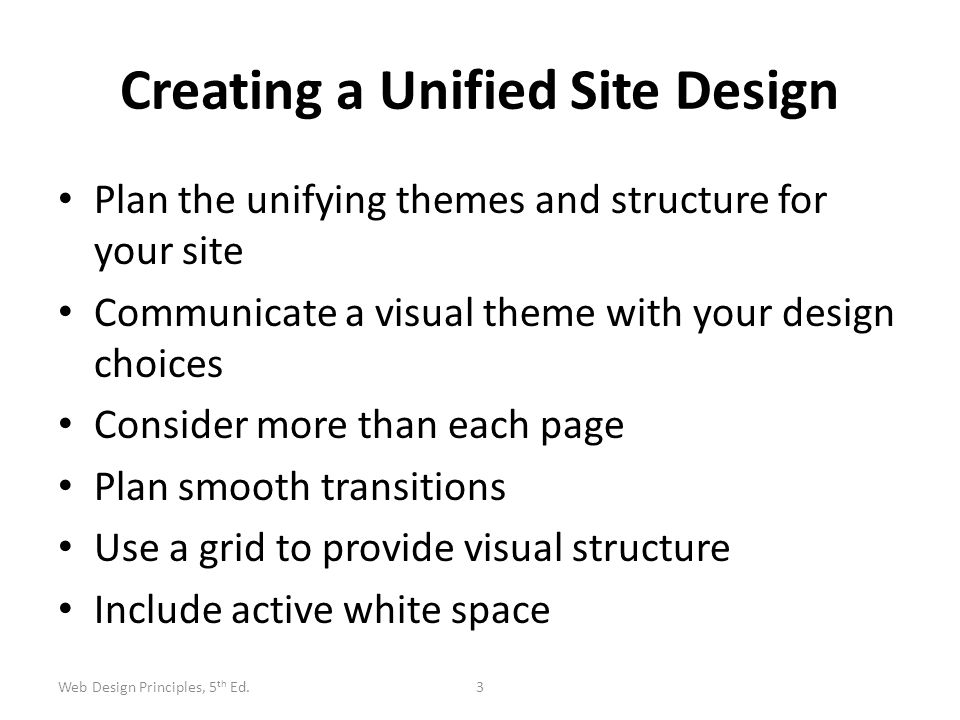 Creating a Unified Site Design