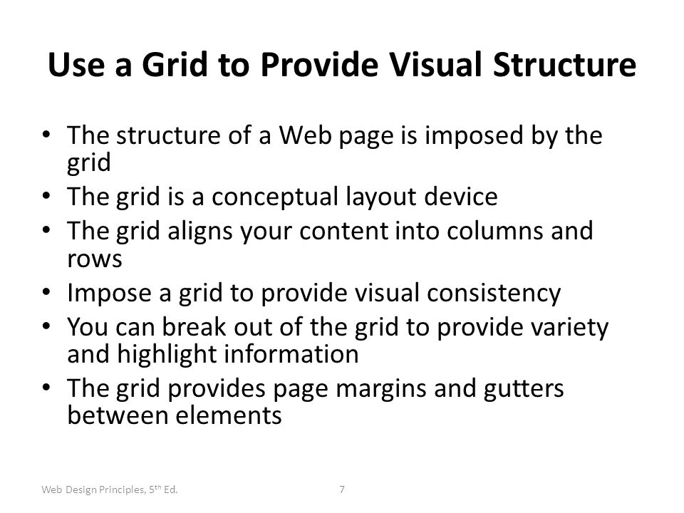 Use a Grid to Provide Visual Structure