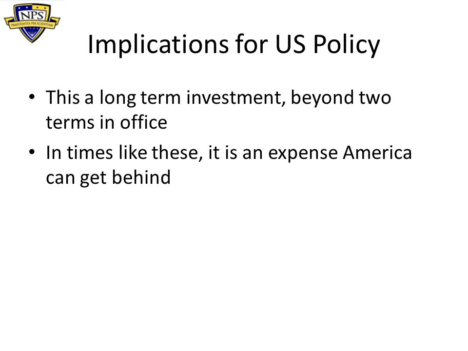Implications for US Policy