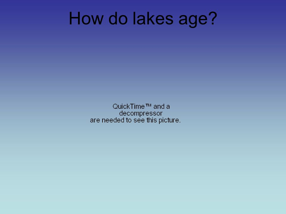 How do lakes age