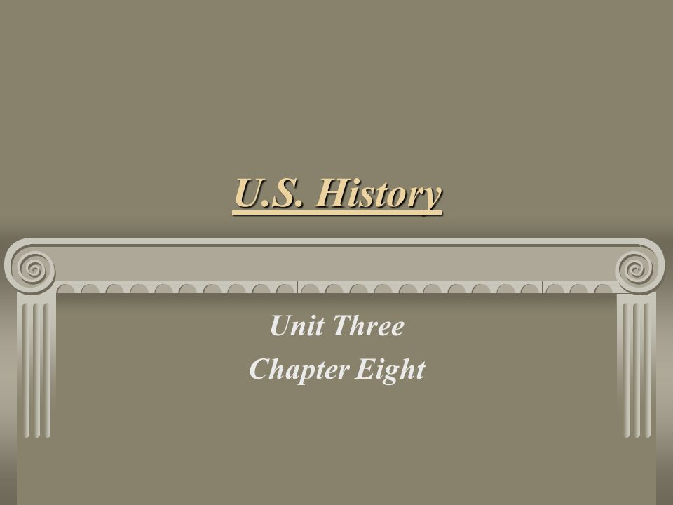 Unit Three Chapter Eight