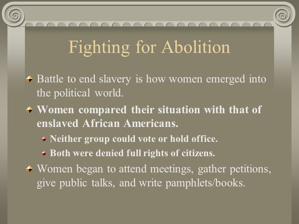 Fighting for Abolition
