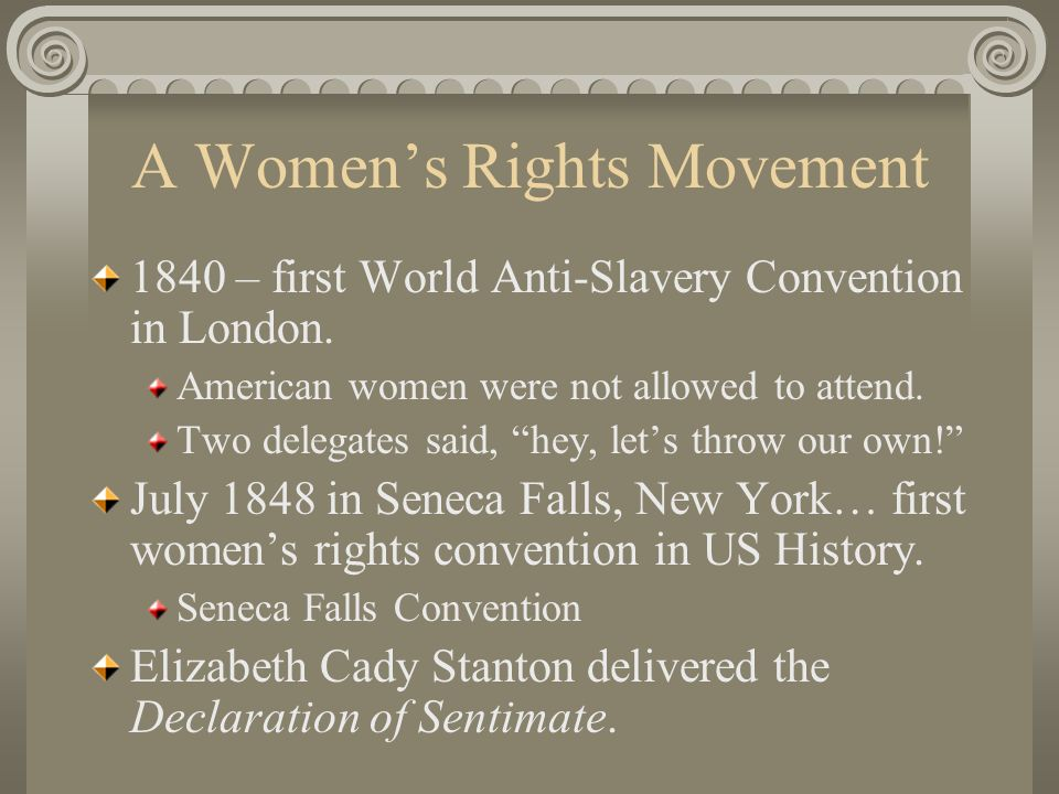 A Women's Rights Movement