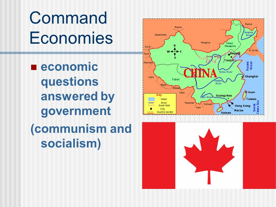 Command Economies economic questions answered by government