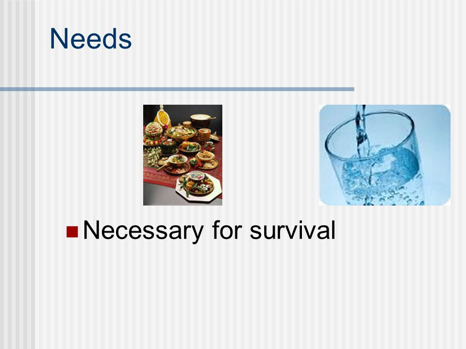Needs Necessary for survival