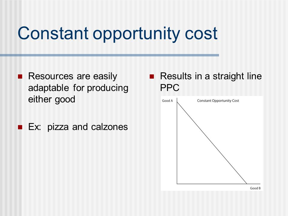 Constant opportunity cost