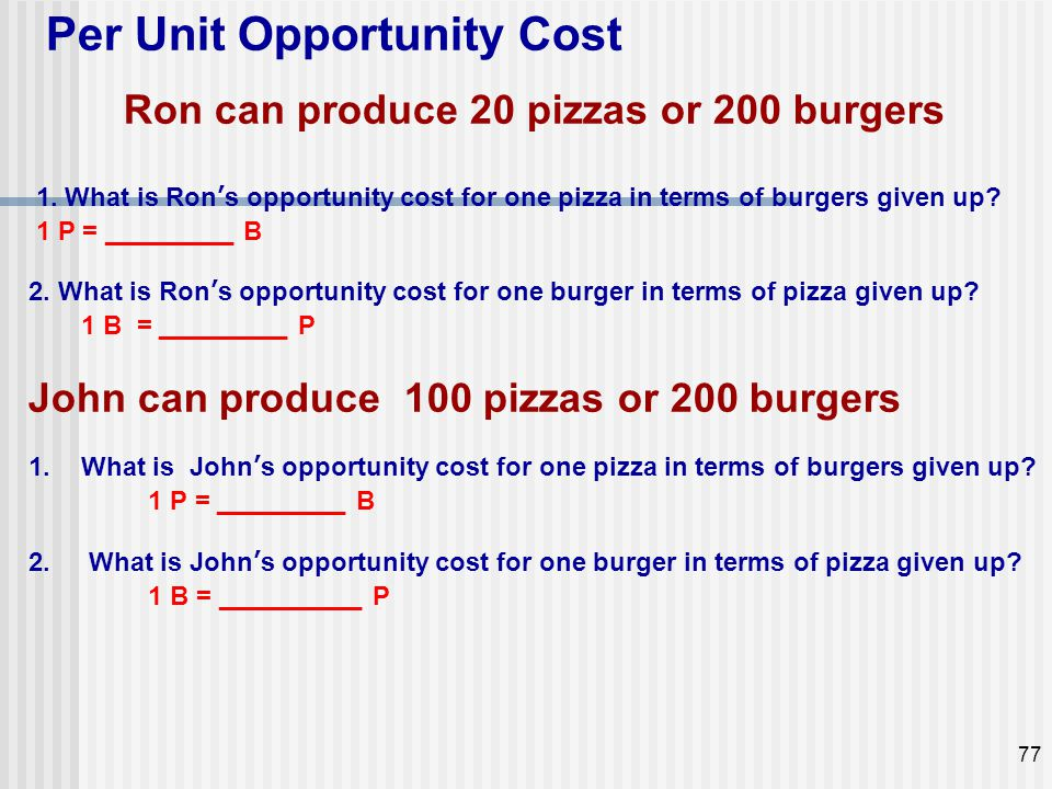 Ron can produce 20 pizzas or 200 burgers