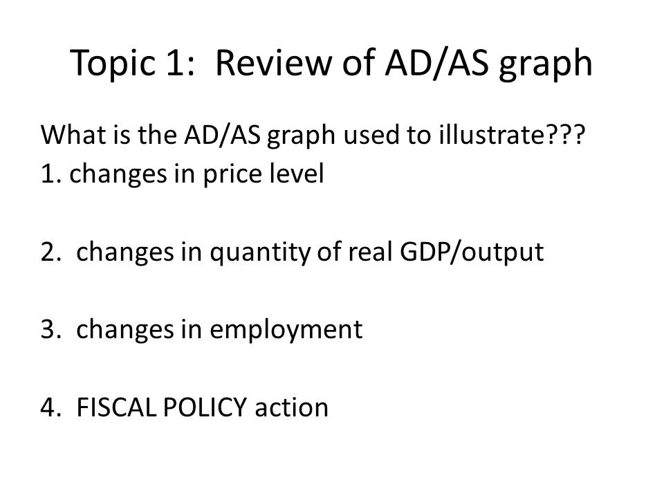 Topic 1: Review of AD/AS graph
