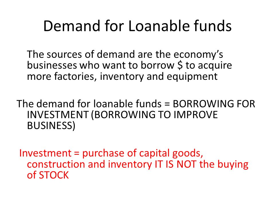Demand for Loanable funds