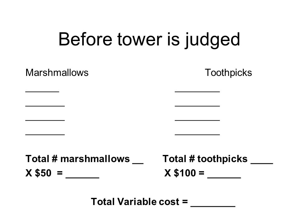 Before tower is judged