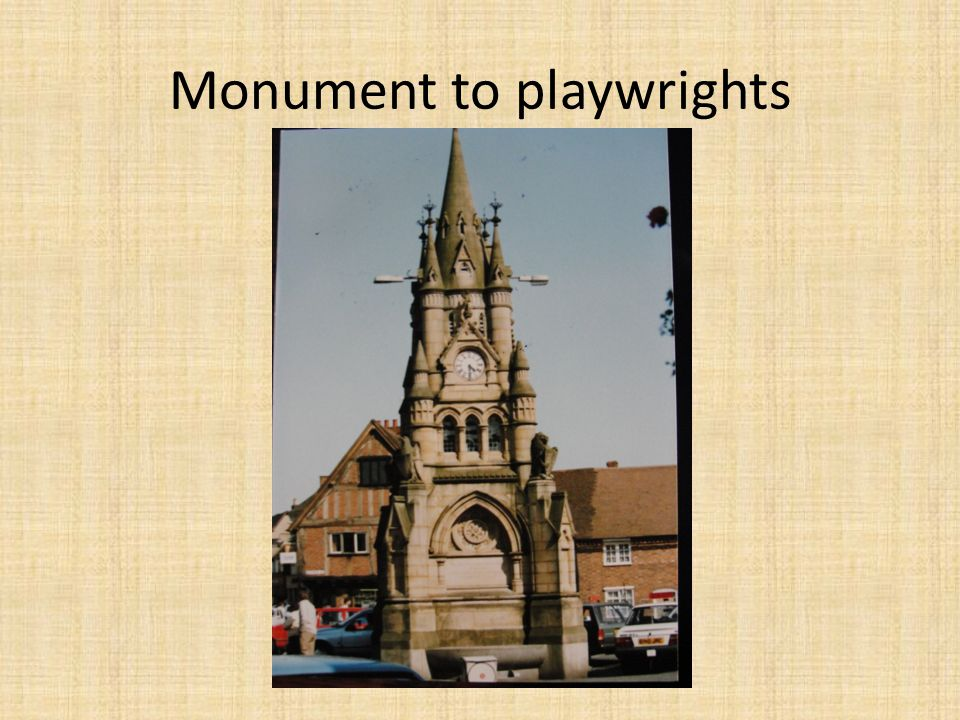 Monument to playwrights