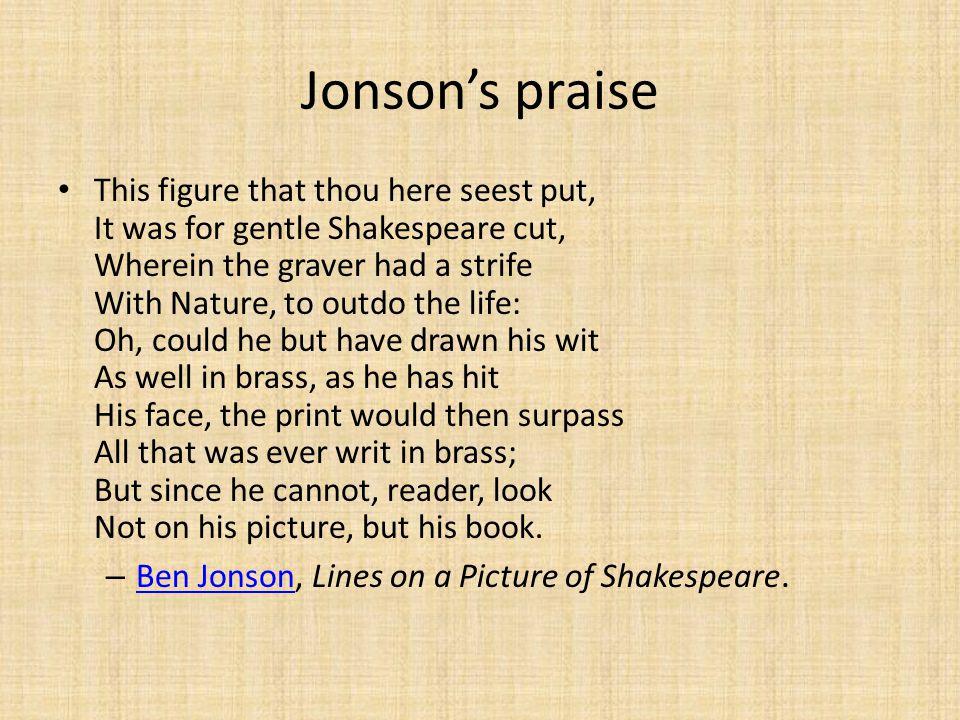Jonson's praise