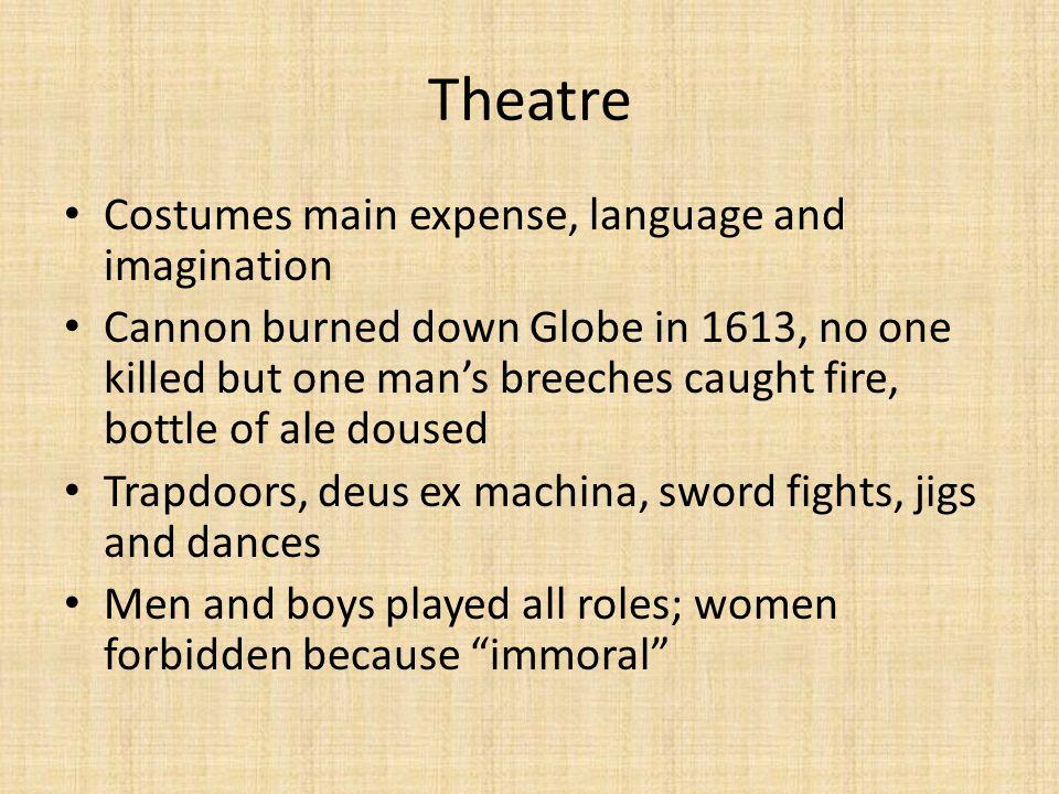 Theatre Costumes main expense, language and imagination