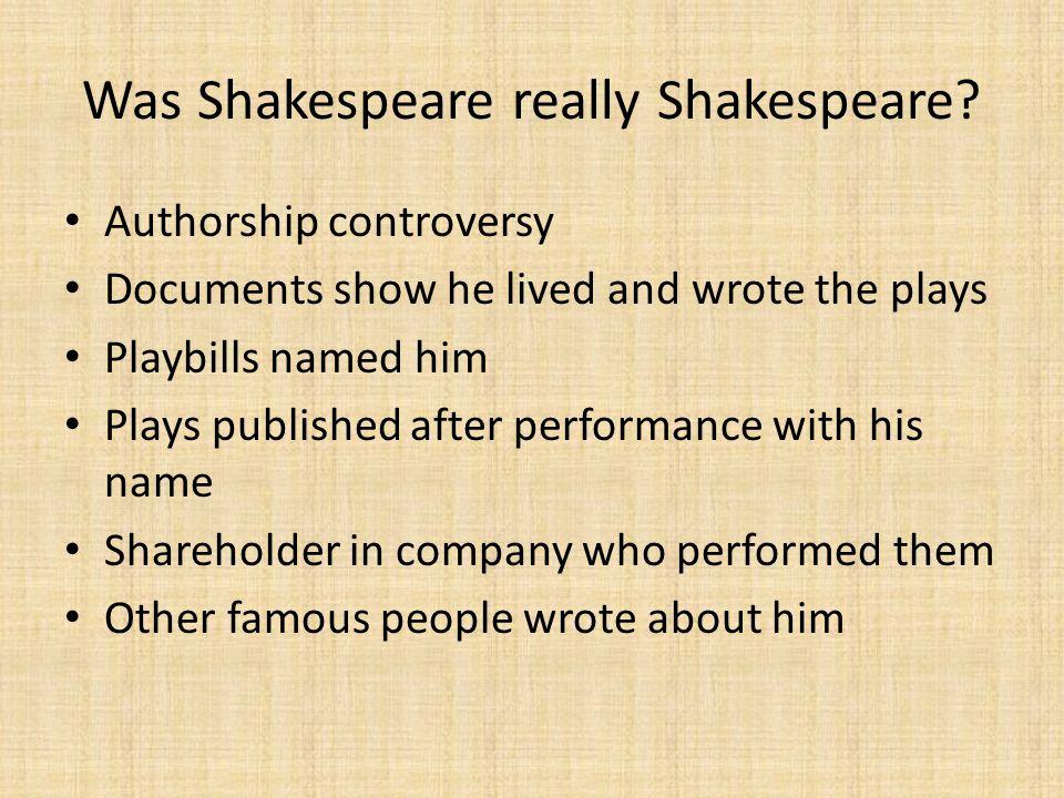 Was Shakespeare really Shakespeare