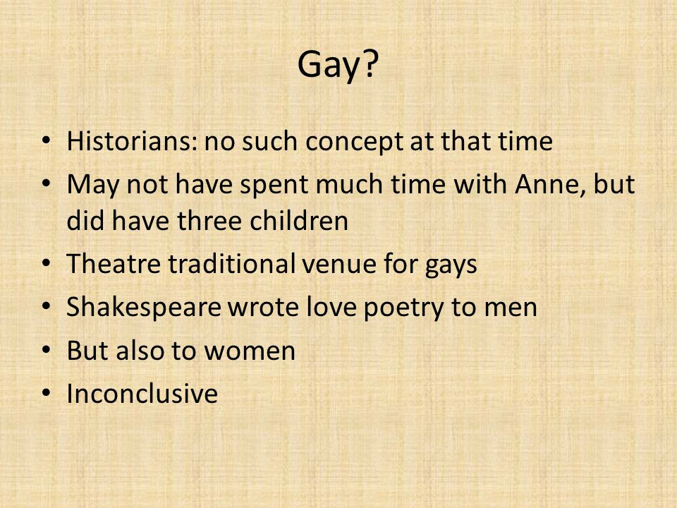 Gay Historians: no such concept at that time