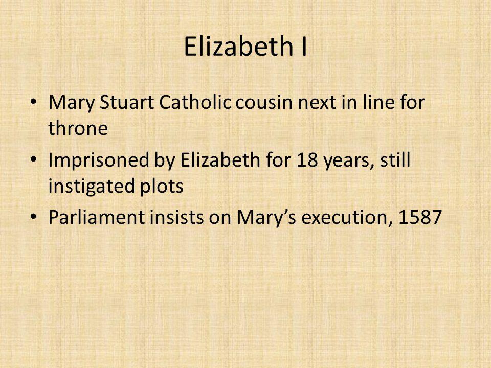 Elizabeth I Mary Stuart Catholic cousin next in line for throne