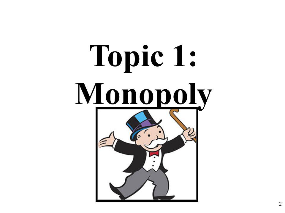 Topic 1: Monopoly 2