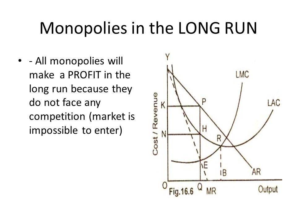 Monopolies in the LONG RUN