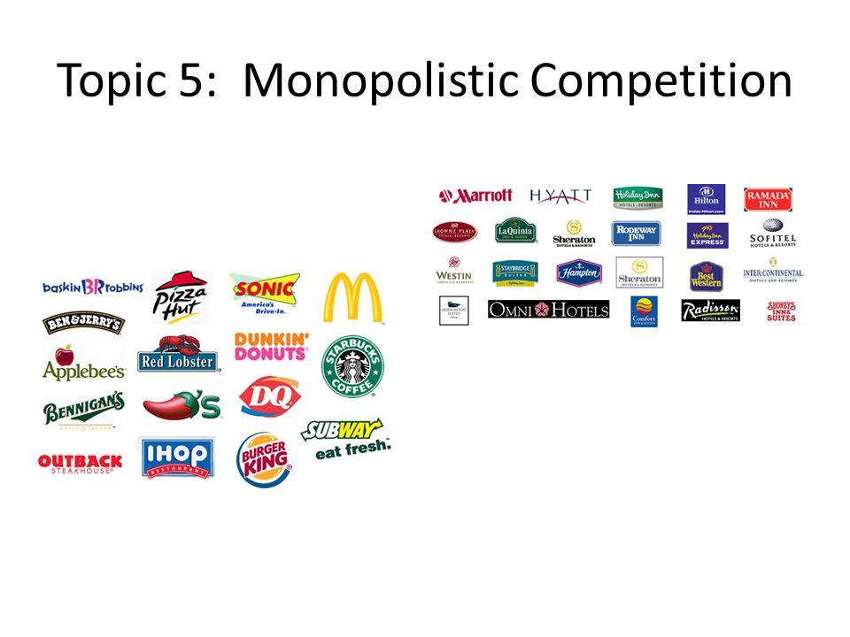 Topic 5: Monopolistic Competition