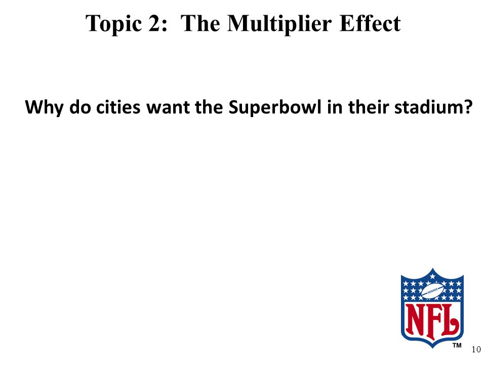 Topic 2: The Multiplier Effect