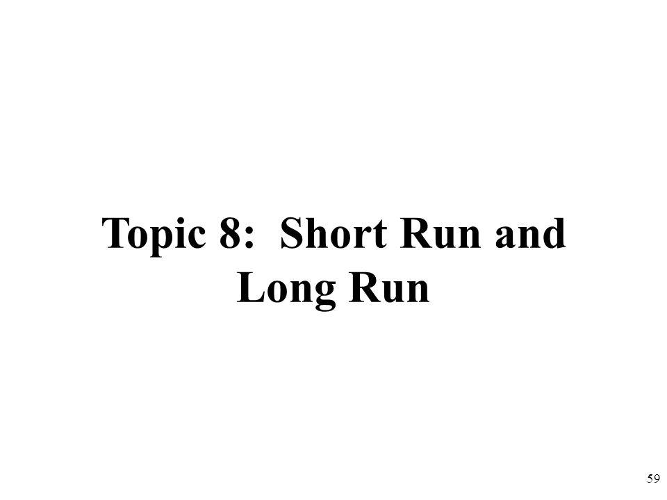 Topic 8: Short Run and Long Run