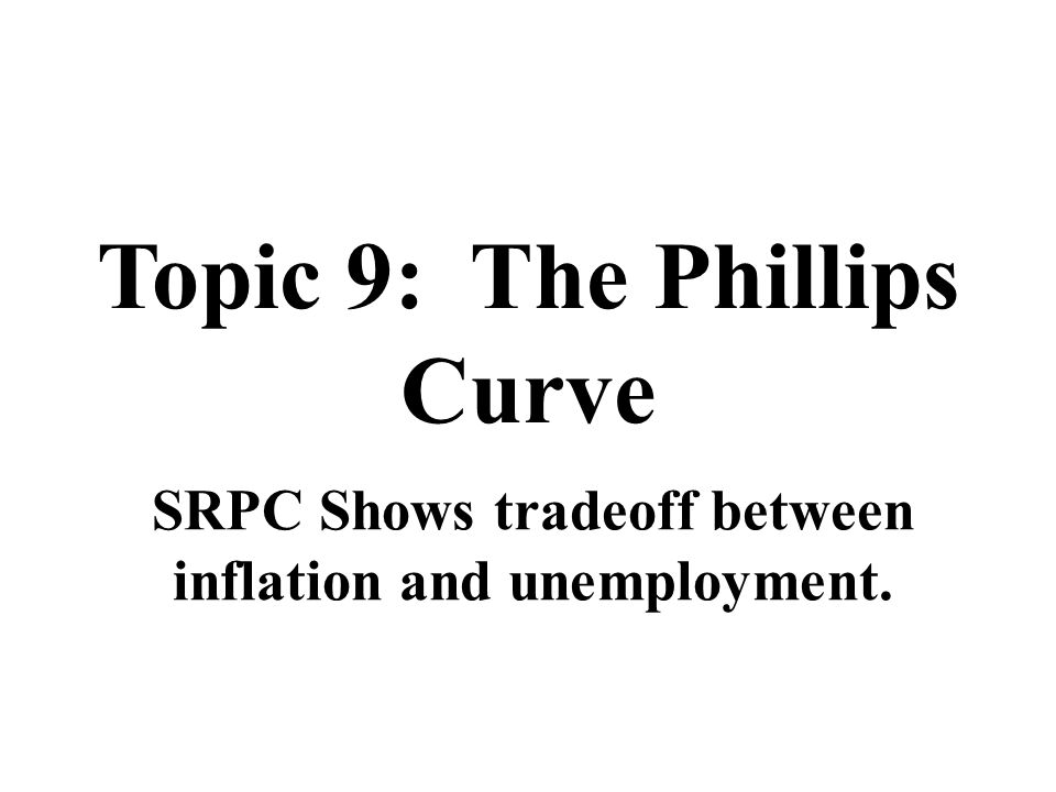 Topic 9: The Phillips Curve