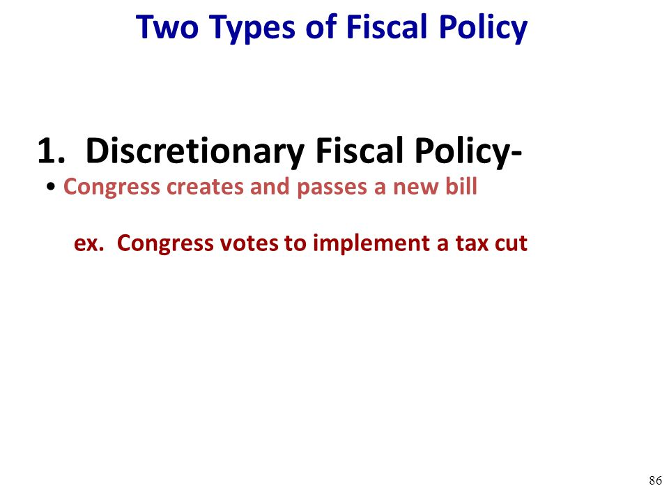 Two Types of Fiscal Policy
