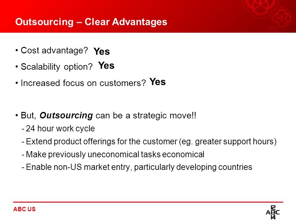 Outsourcing – Clear Advantages