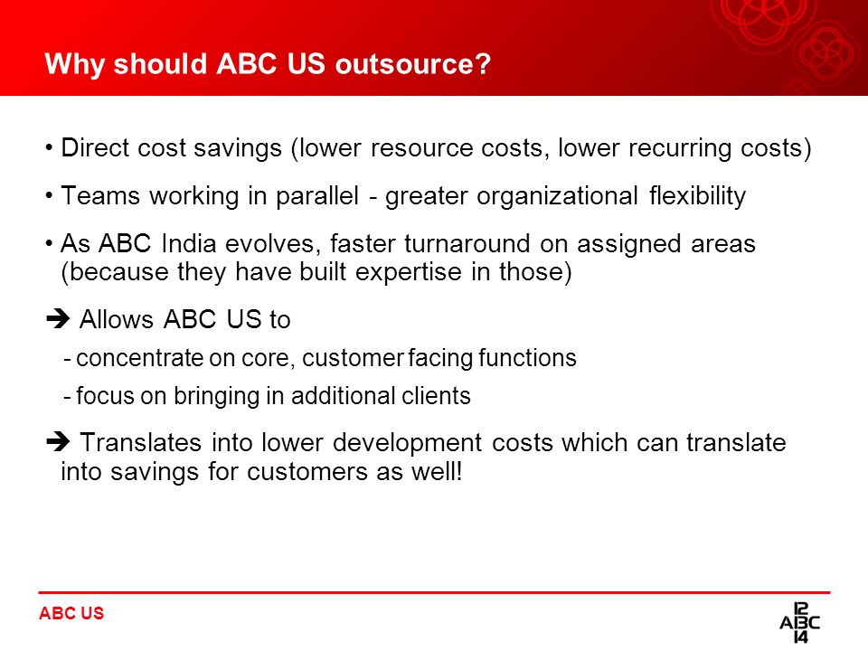 Why should ABC US outsource