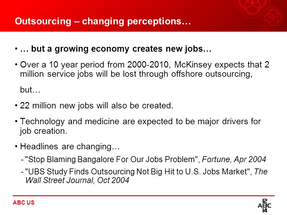 Outsourcing – changing perceptions…