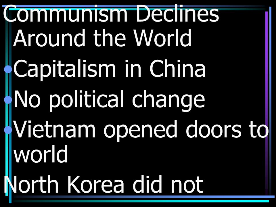 Communism Declines Around the World