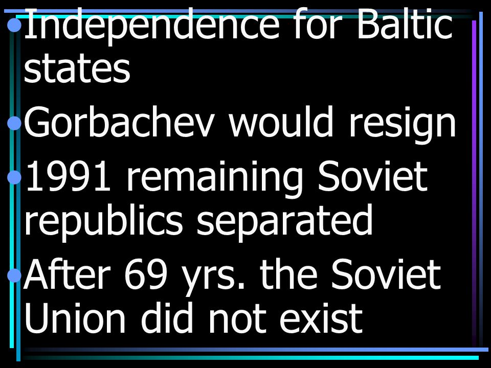 Independence for Baltic states