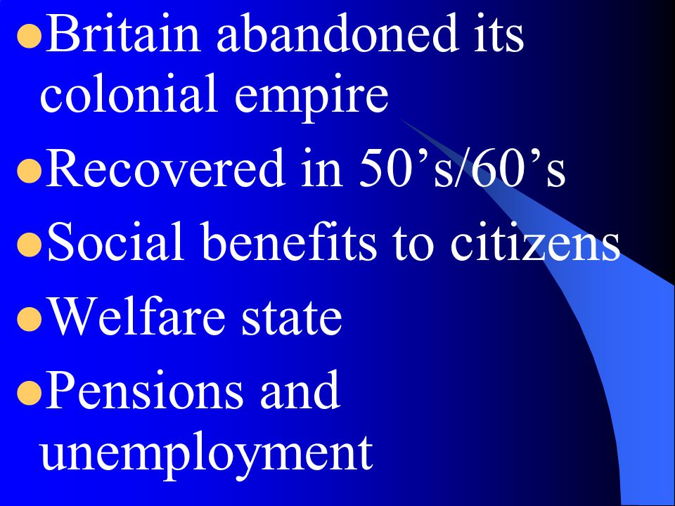 Britain abandoned its colonial empire