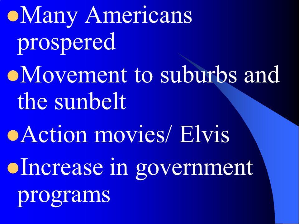 Many Americans prospered