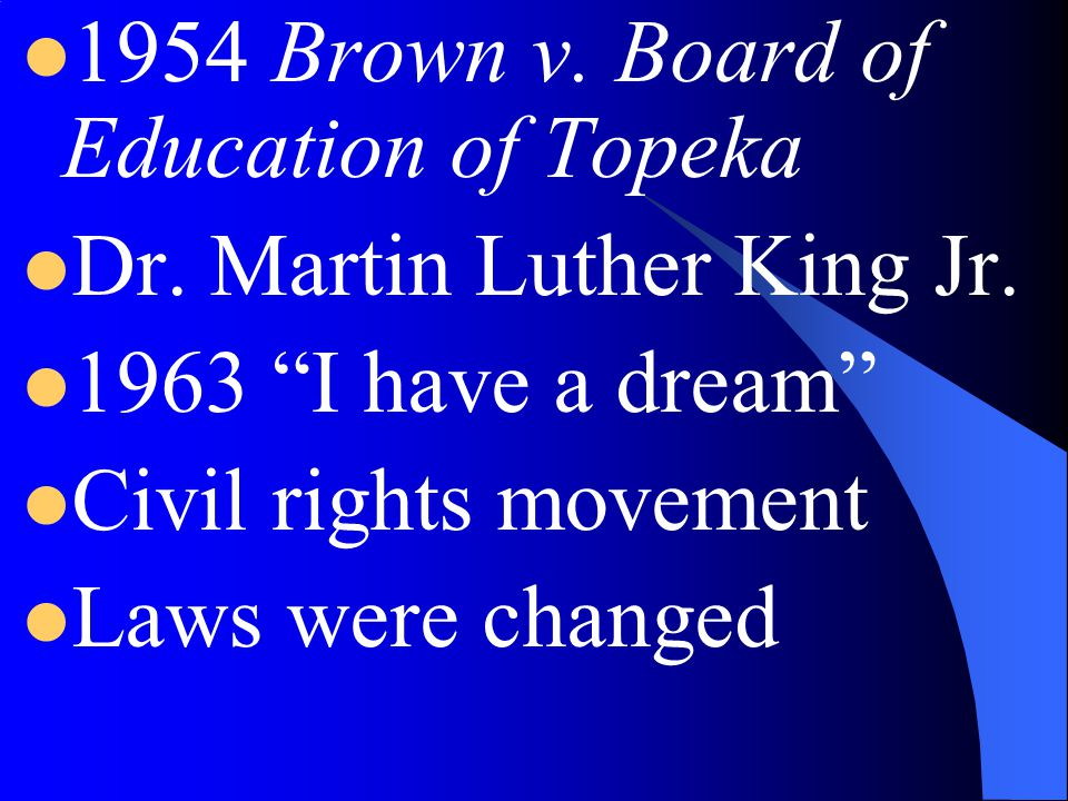 1954 Brown v. Board of Education of Topeka