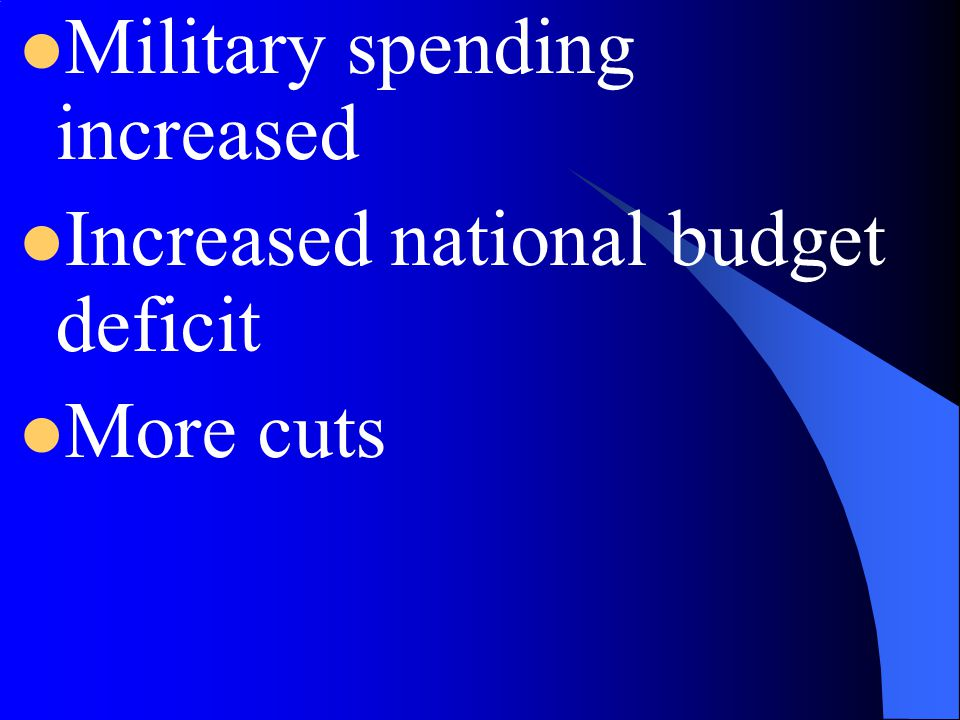 Military spending increased