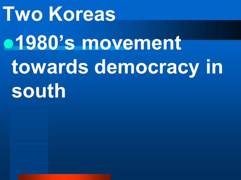 Two Koreas 1980's movement towards democracy in south