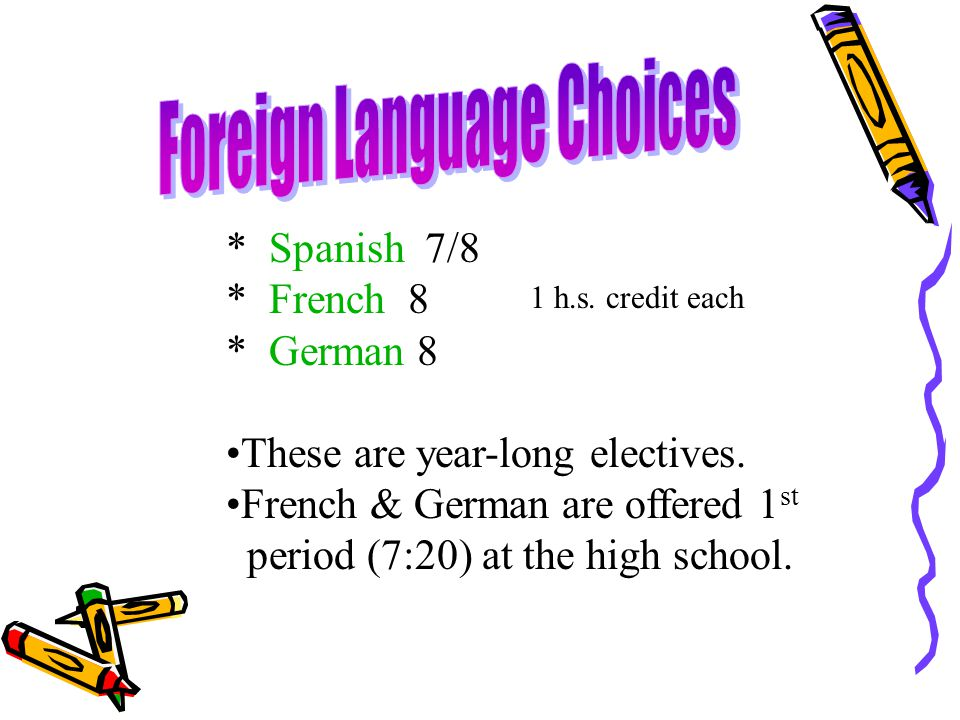 Foreign Language Choices