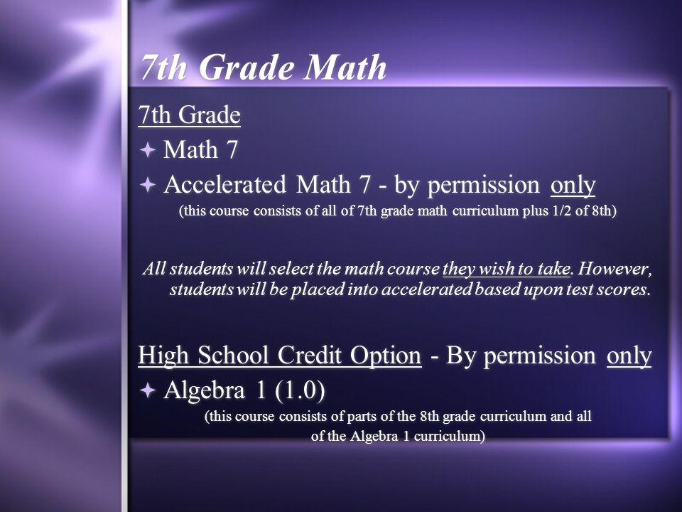 7th Grade Math 7th Grade Math 7