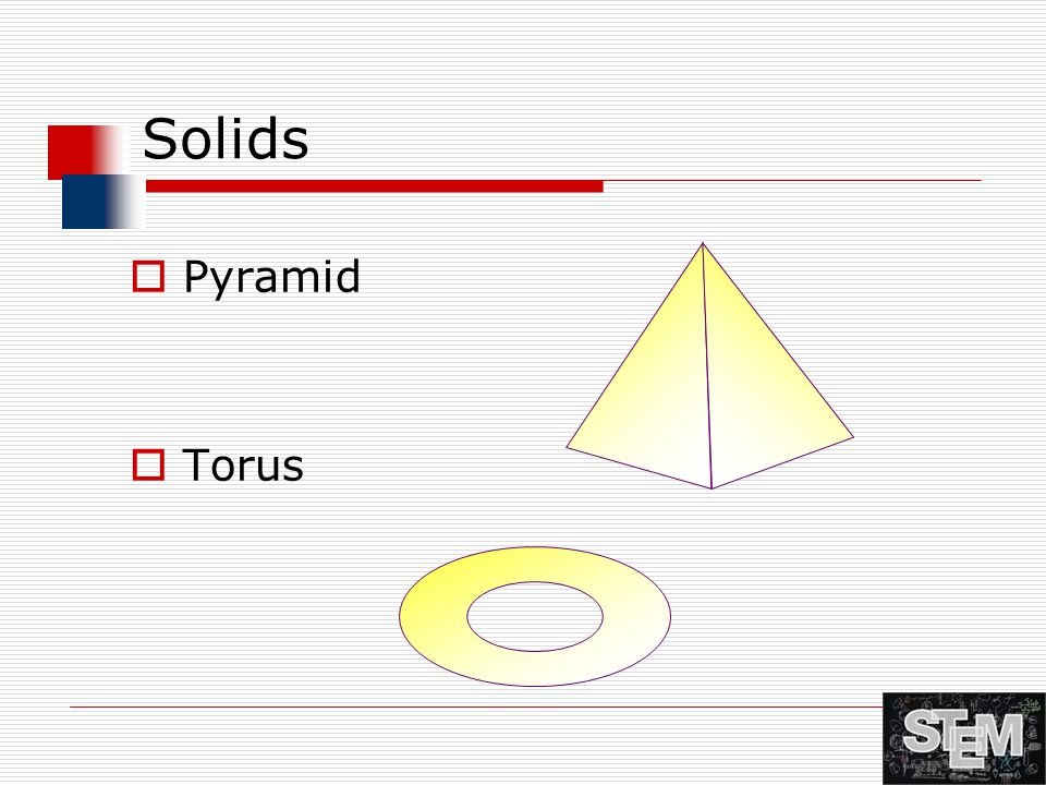 Solids Pyramid Torus