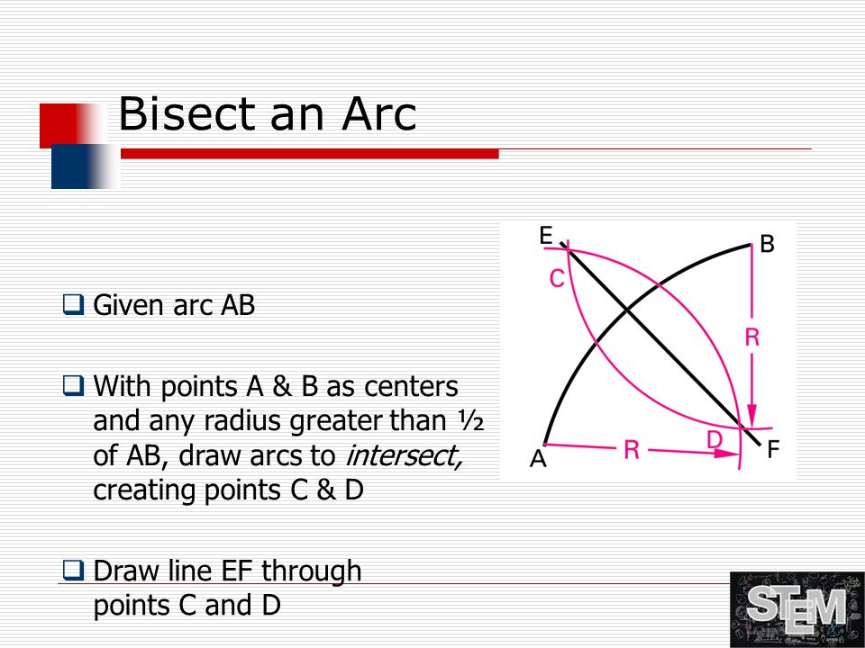 Bisect an Arc Given arc AB