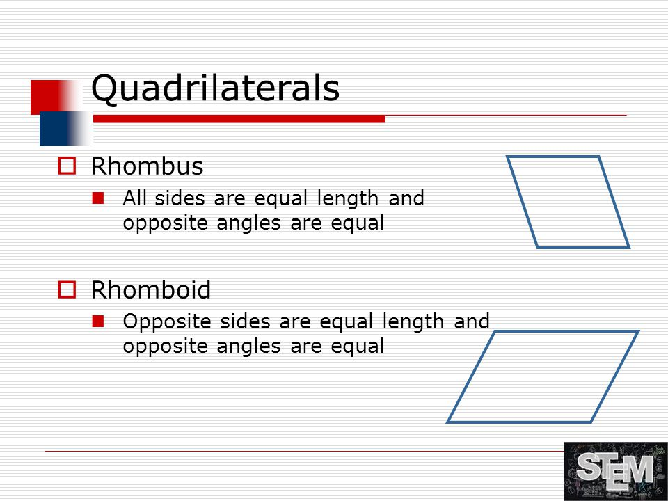 Quadrilaterals Rhombus Rhomboid
