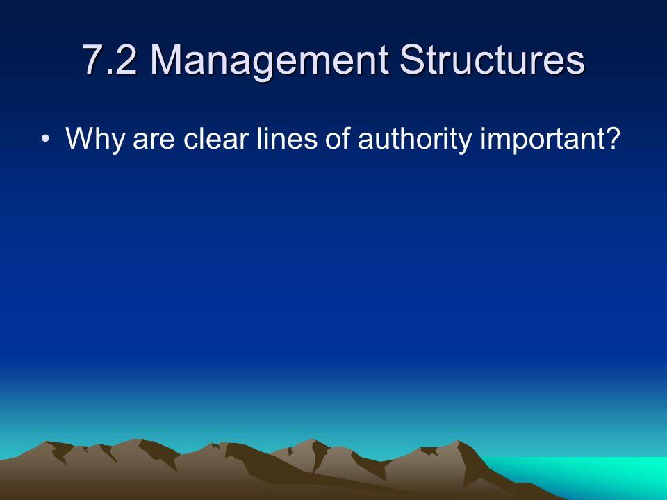 7.2 Management Structures